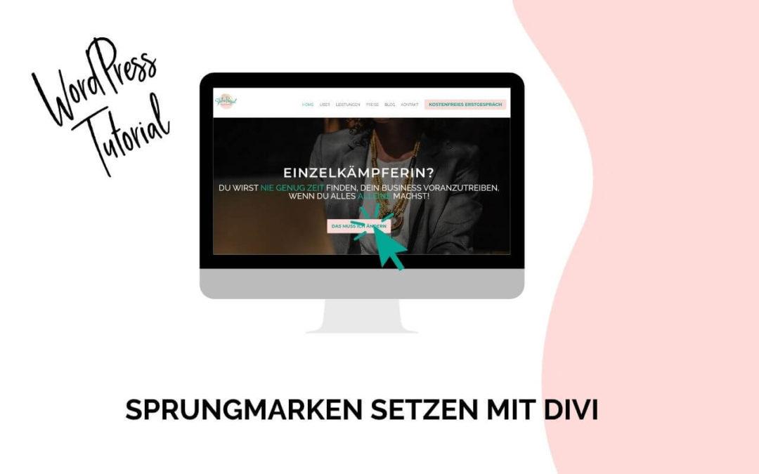 WordPress Tutorial: Sprungmarke setzen mit Divi