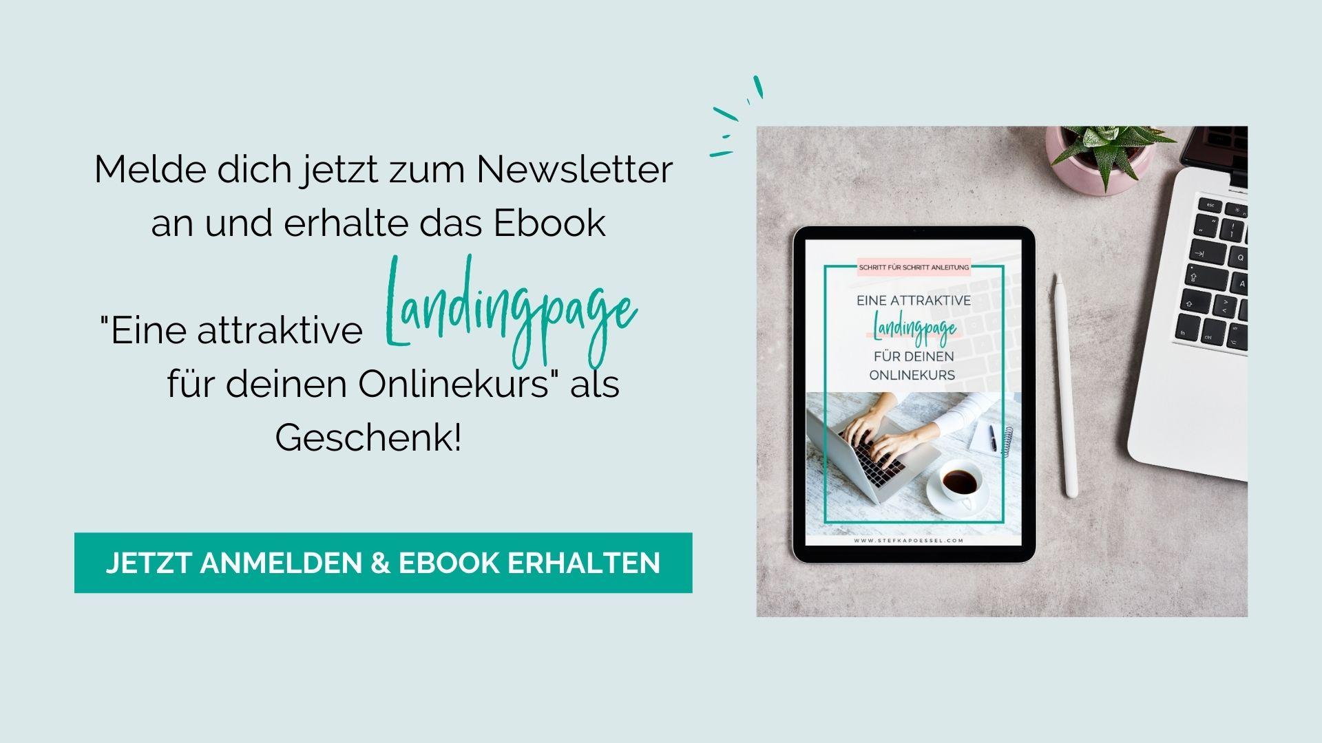 Kostenloses E-Book Landingpage